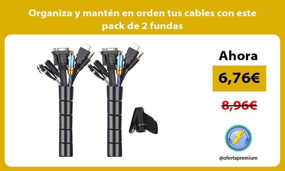 Organiza y mantén en orden tus cables con este pack de 2 fundas
