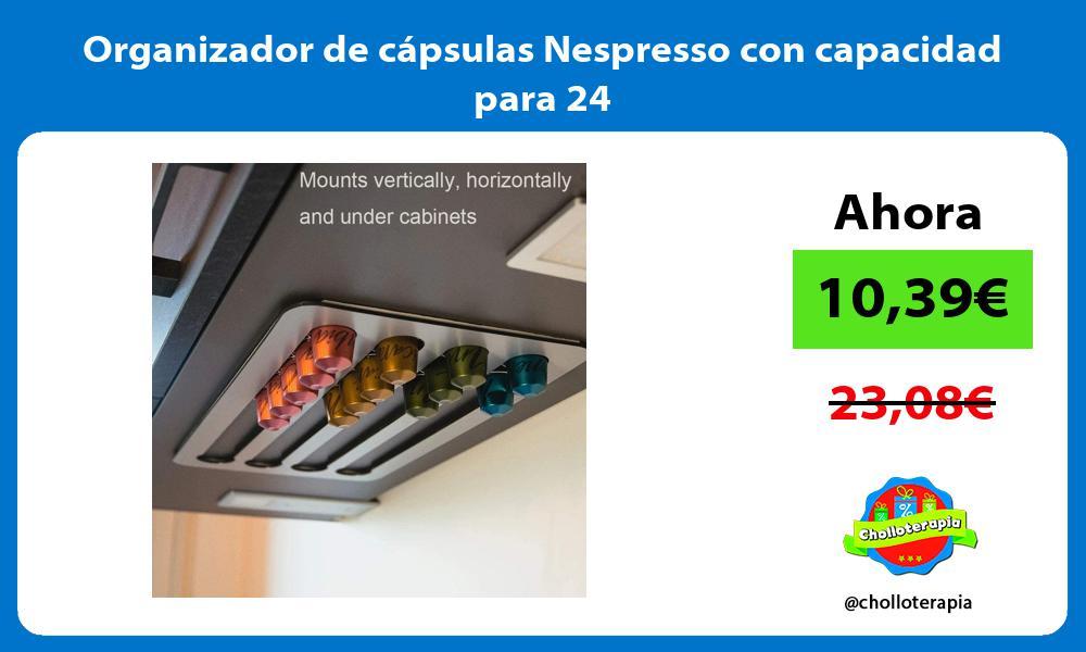 Organizador de cápsulas Nespresso con capacidad para 24