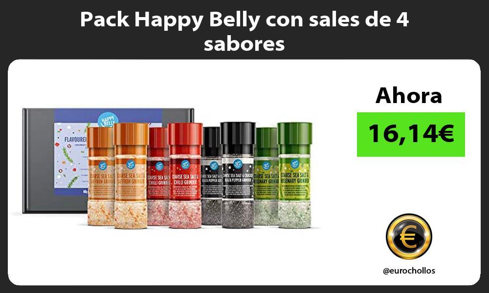 Pack Happy Belly con sales de 4 sabores
