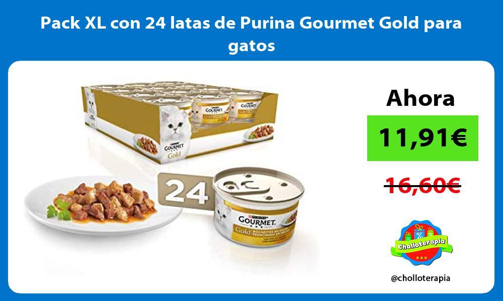 Pack XL con 24 latas de Purina Gourmet Gold para gatos