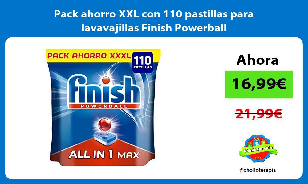 Pack ahorro XXL con 110 pastillas para lavavajillas Finish Powerball