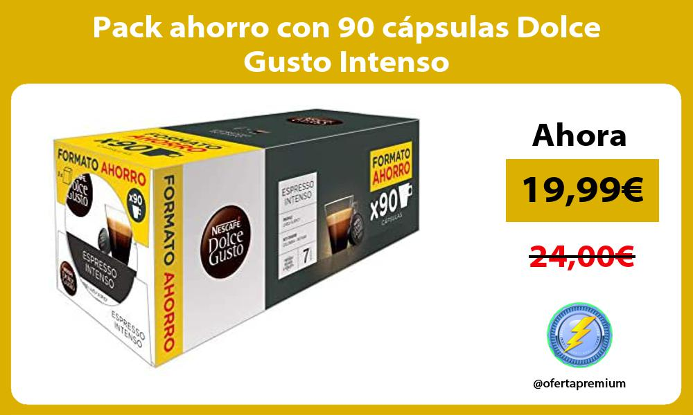 Pack ahorro con 90 cápsulas Dolce Gusto Intenso