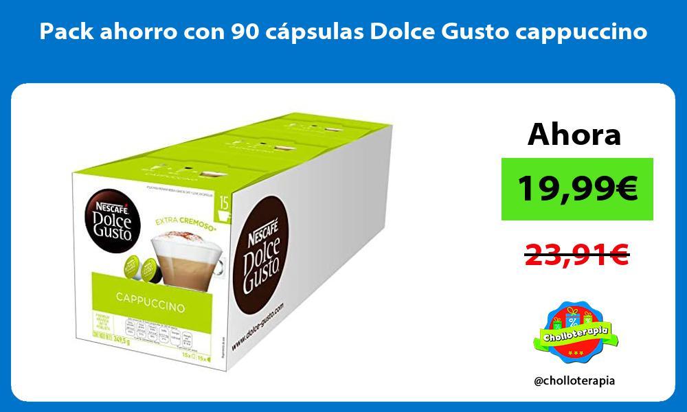 Pack ahorro con 90 cápsulas Dolce Gusto cappuccino