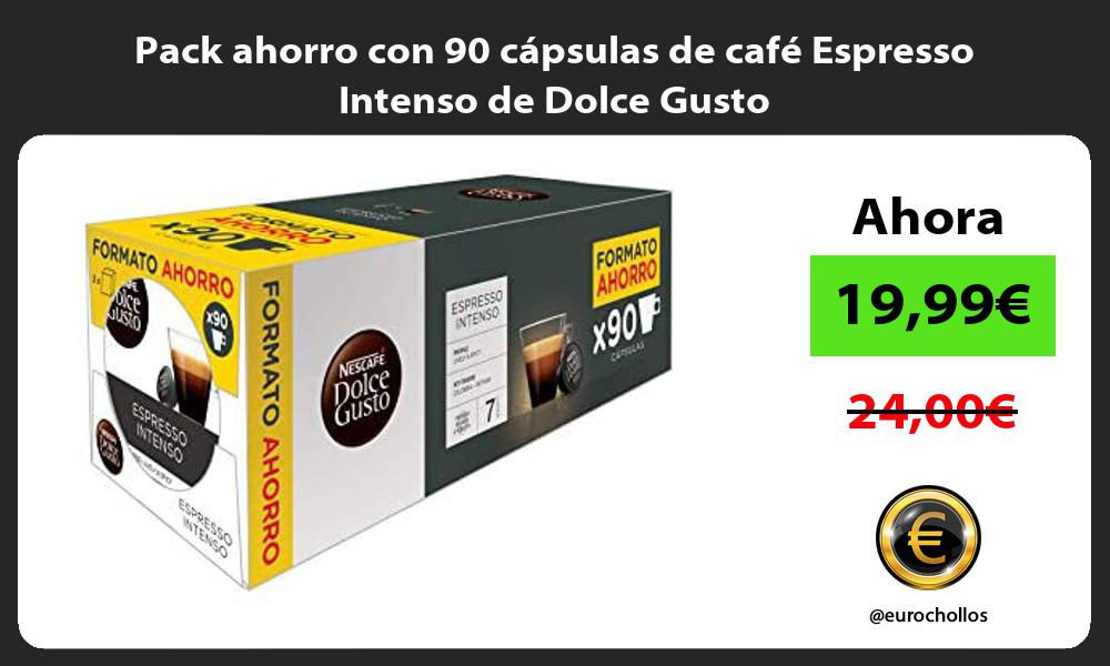 Pack ahorro con 90 cápsulas de café Espresso Intenso de Dolce Gusto