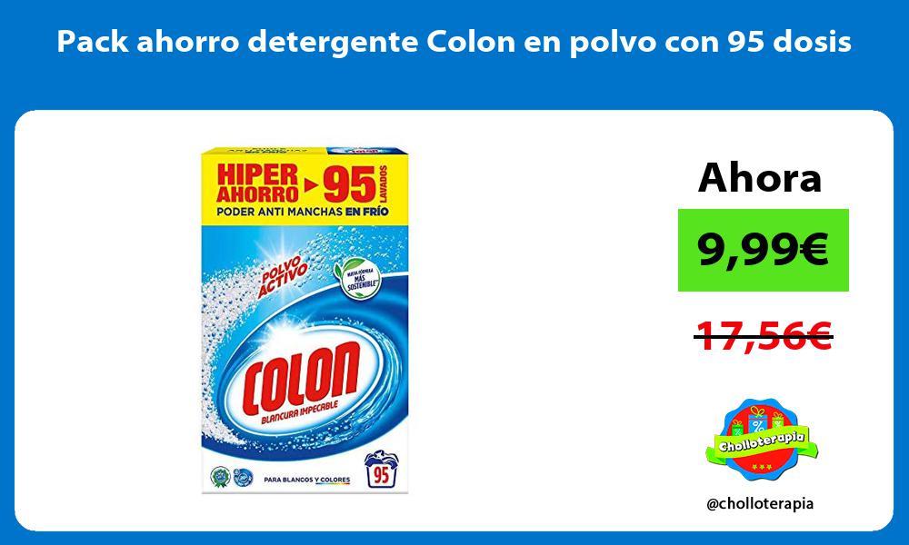 Pack ahorro detergente Colon en polvo con 95 dosis