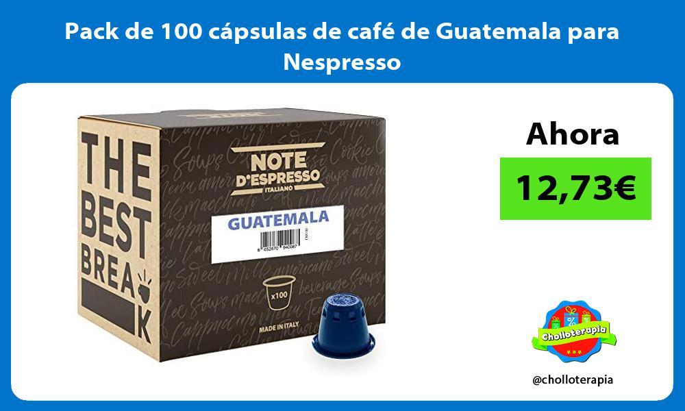 Pack de 100 cápsulas de café de Guatemala para Nespresso