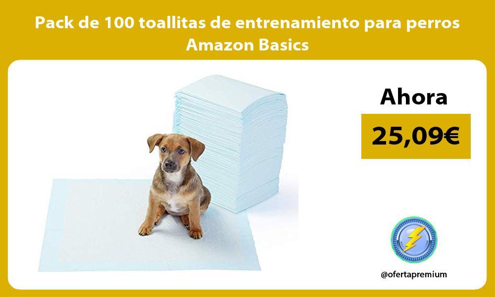 Pack de 100 toallitas de entrenamiento para perros Amazon Basics