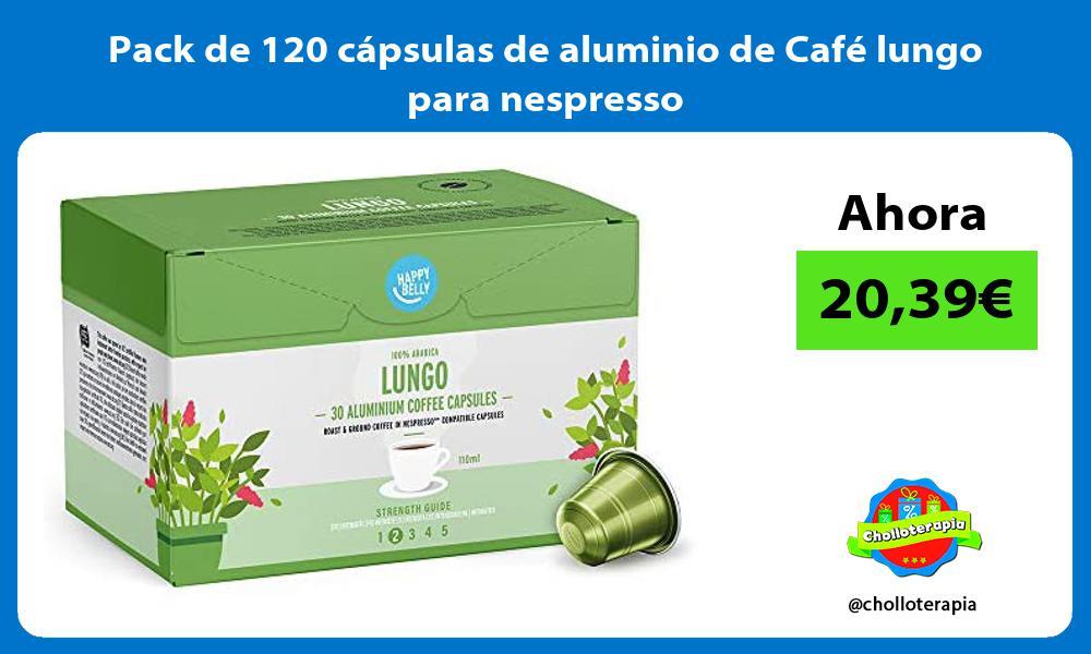Pack de 120 cápsulas de aluminio de Café lungo para nespresso
