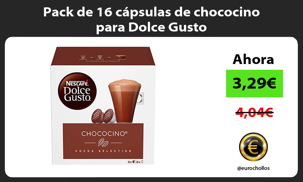 Pack de 16 cápsulas de chococino para Dolce Gusto