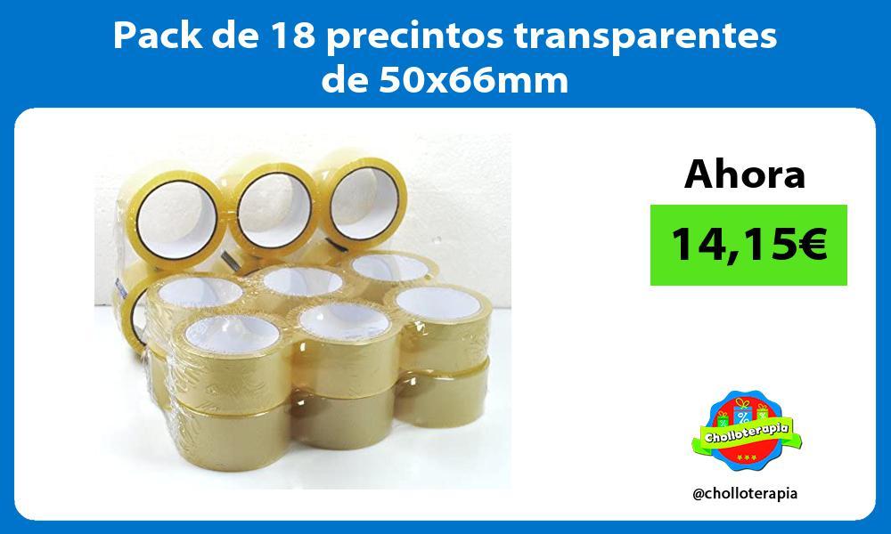 Pack de 18 precintos transparentes de 50x66mm
