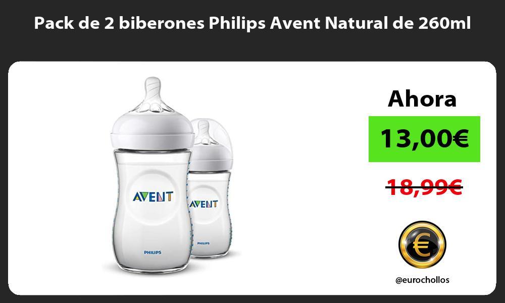 Pack de 2 biberones Philips Avent Natural de 260ml