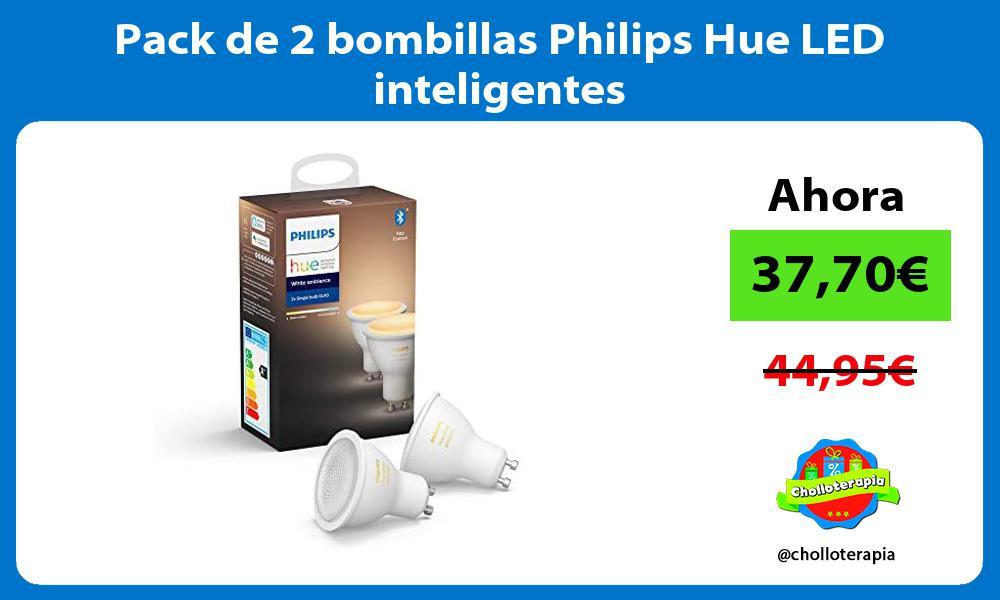 Pack de 2 bombillas Philips Hue LED inteligentes