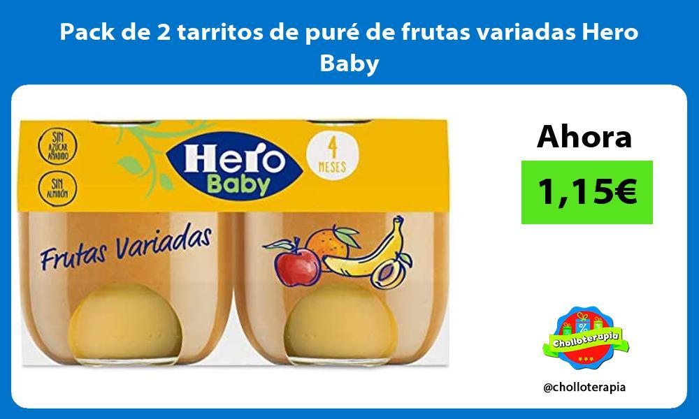 Pack de 2 tarritos de puré de frutas variadas Hero Baby