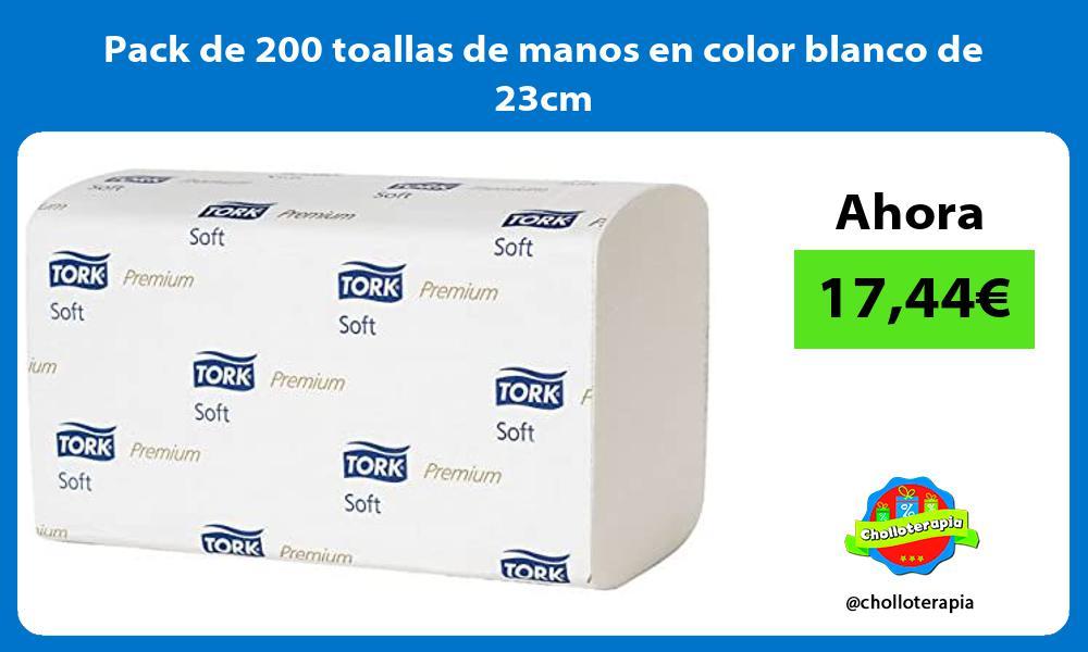 Pack de 200 toallas de manos en color blanco de 23cm