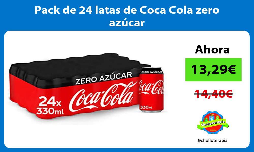 Pack de 24 latas de Coca Cola zero azúcar
