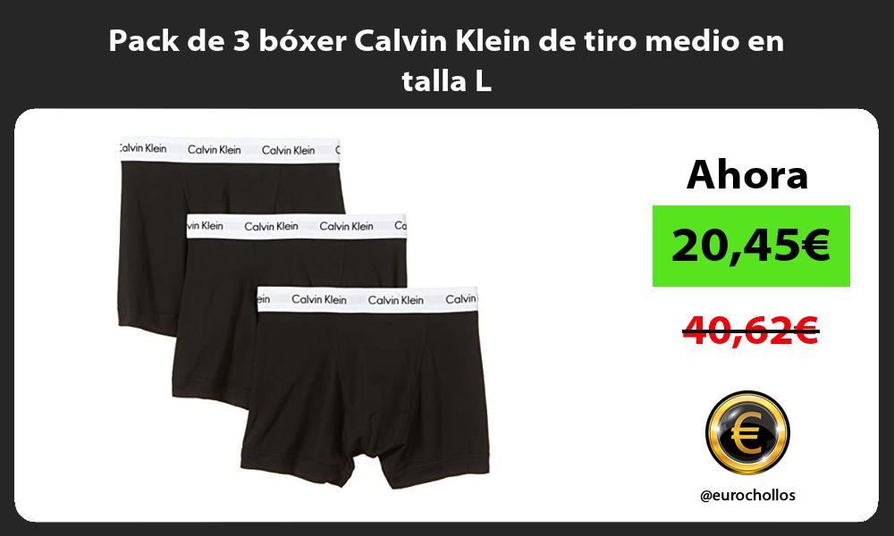 Pack de 3 bóxer Calvin Klein de tiro medio en talla L