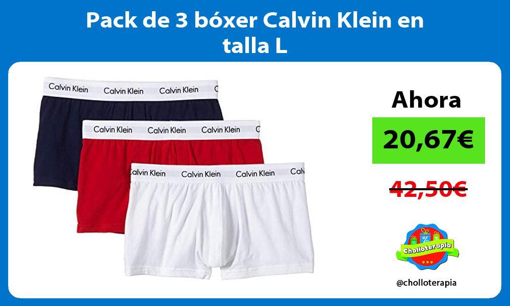 Pack de 3 bóxer Calvin Klein en talla L