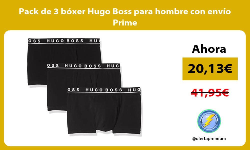 Pack de 3 bóxer Hugo Boss para hombre con envío Prime