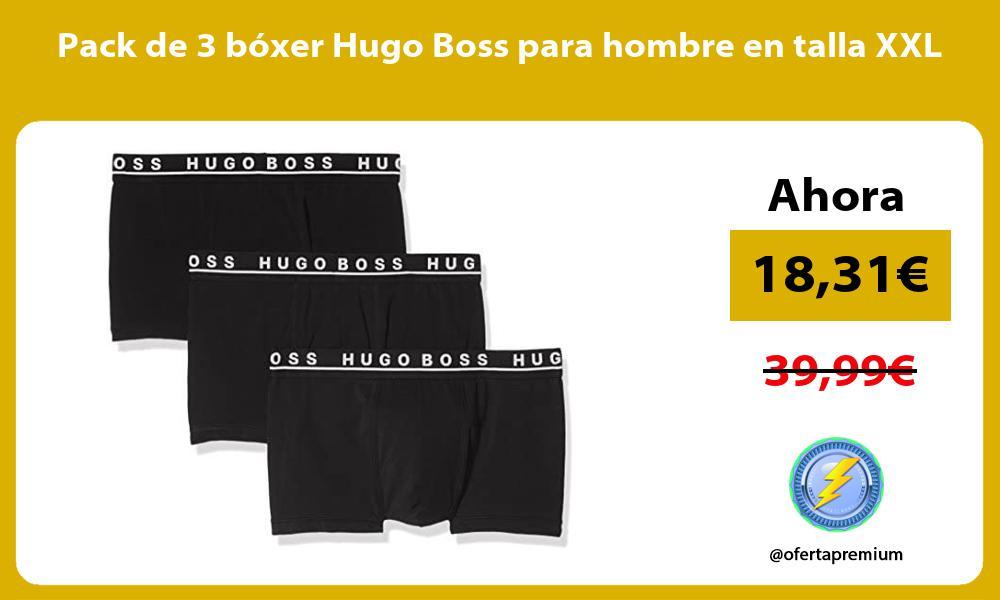 Pack de 3 bóxer Hugo Boss para hombre en talla XXL