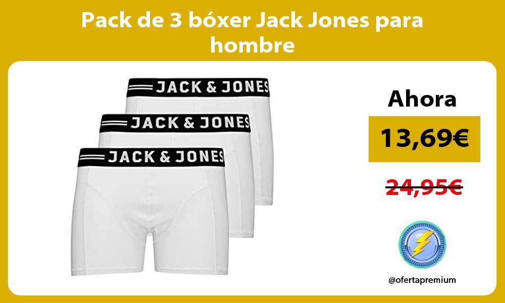Pack de 3 bóxer Jack Jones para hombre