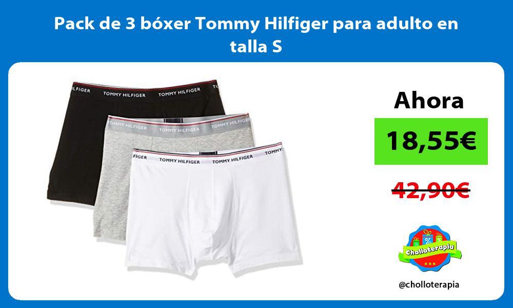 Pack de 3 bóxer Tommy Hilfiger para adulto en talla S