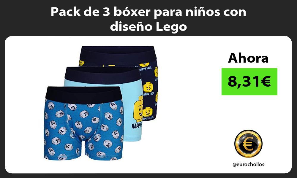 Pack de 3 bóxer para niños con diseño Lego