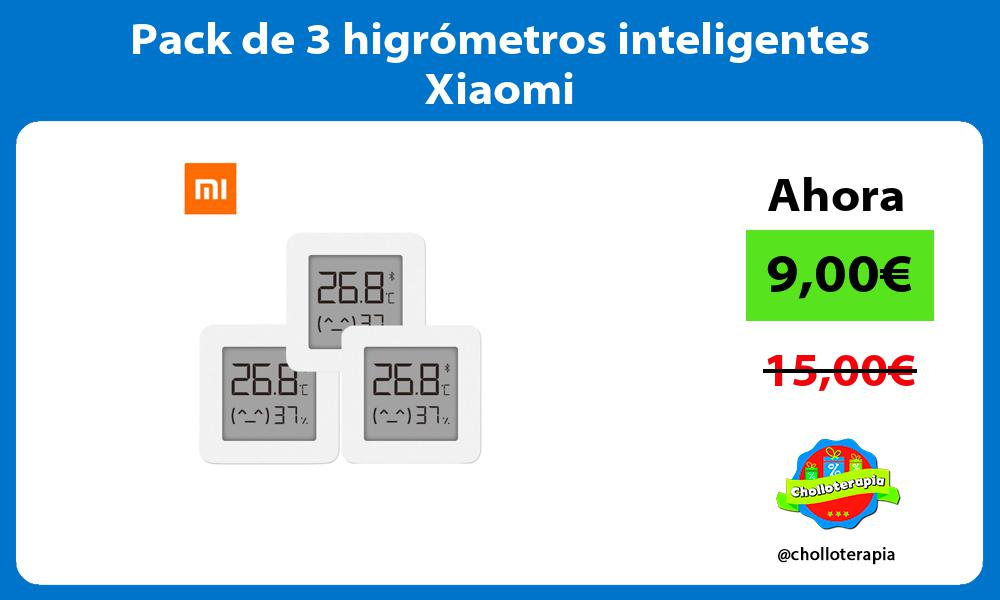 Pack de 3 higrómetros inteligentes Xiaomi