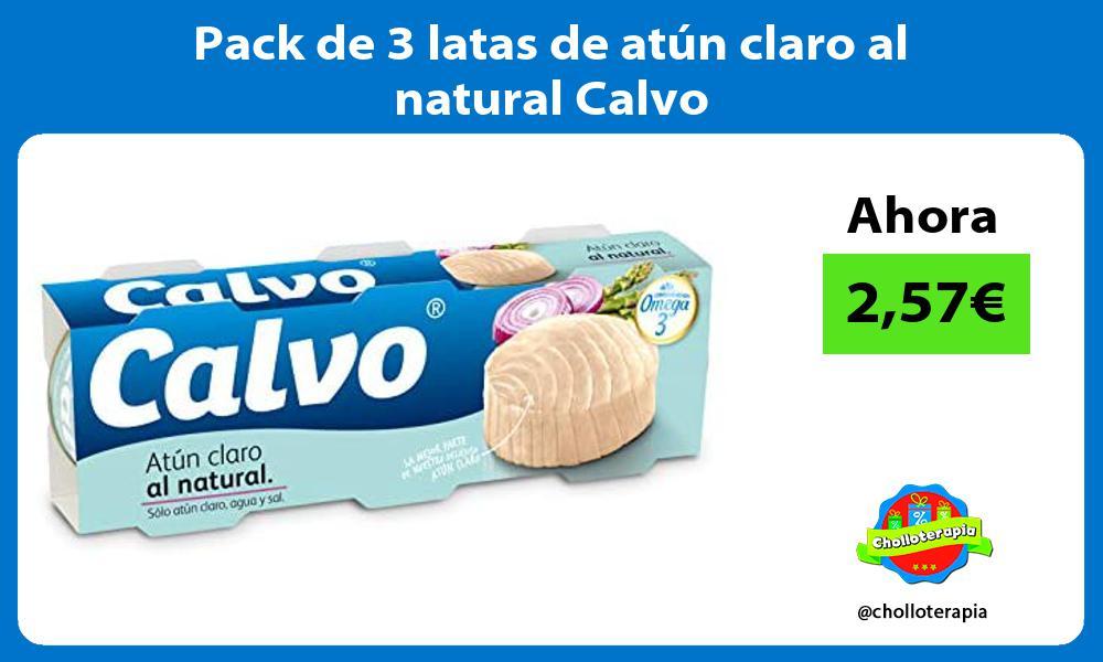Pack de 3 latas de atún claro al natural Calvo
