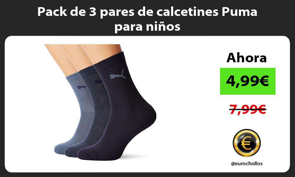 Pack de 3 pares de calcetines Puma para niños