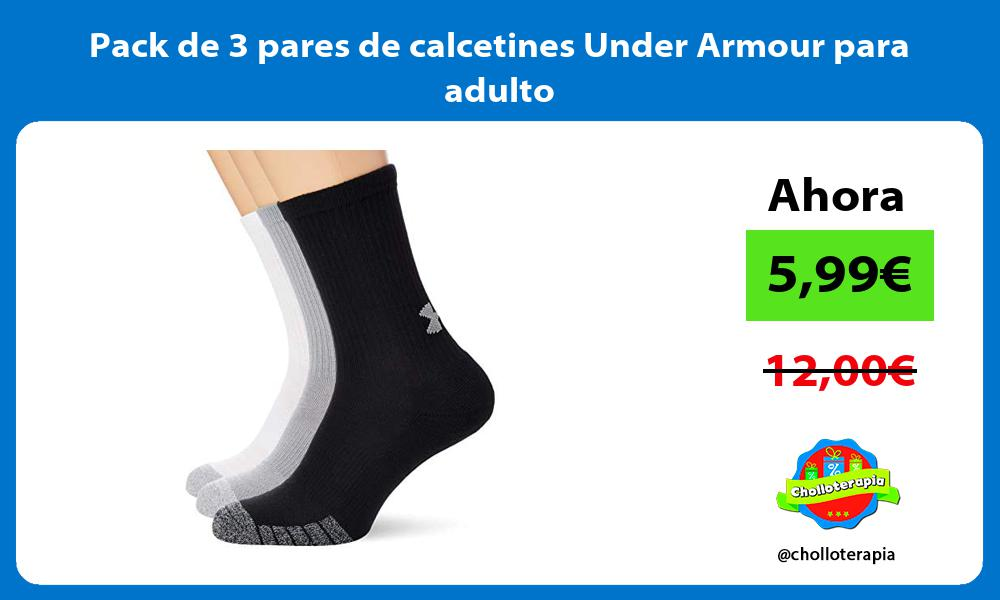 Pack de 3 pares de calcetines Under Armour para adulto