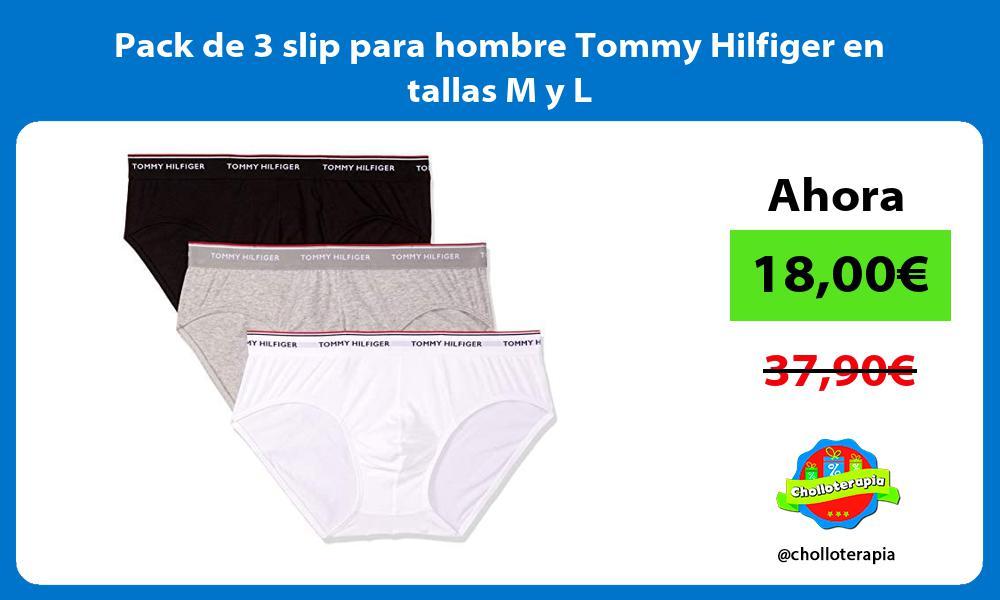 Pack de 3 slip para hombre Tommy Hilfiger en tallas M y L