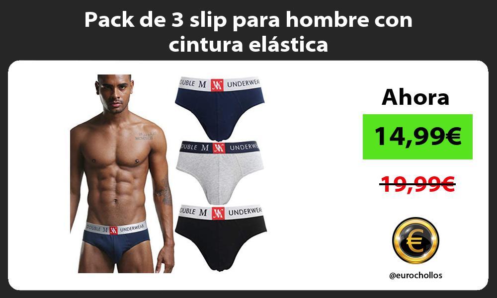 Pack de 3 slip para hombre con cintura elástica