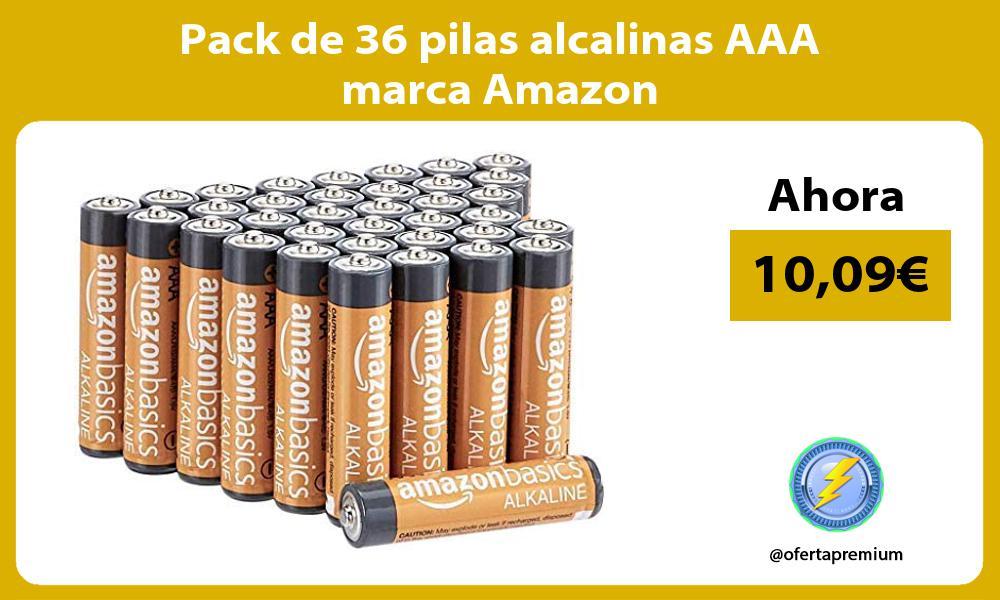 Pack de 36 pilas alcalinas AAA marca Amazon