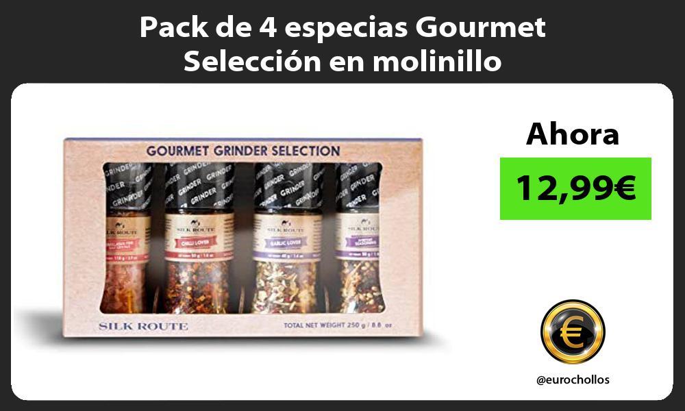 Pack de 4 especias Gourmet Selección en molinillo