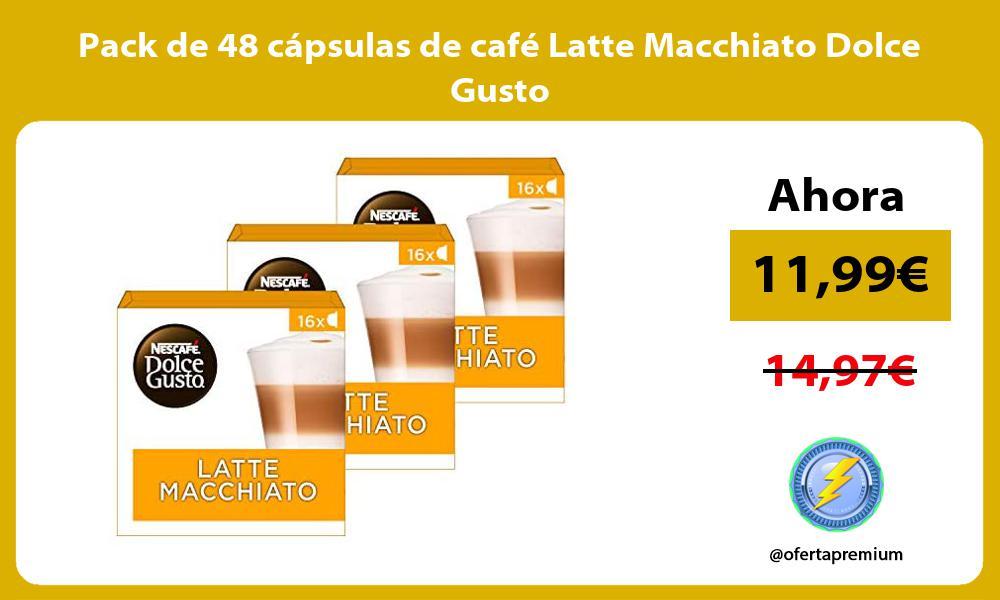 Pack de 48 cápsulas de café Latte Macchiato Dolce Gusto