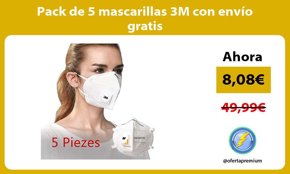 Pack de 5 mascarillas 3M con envío gratis
