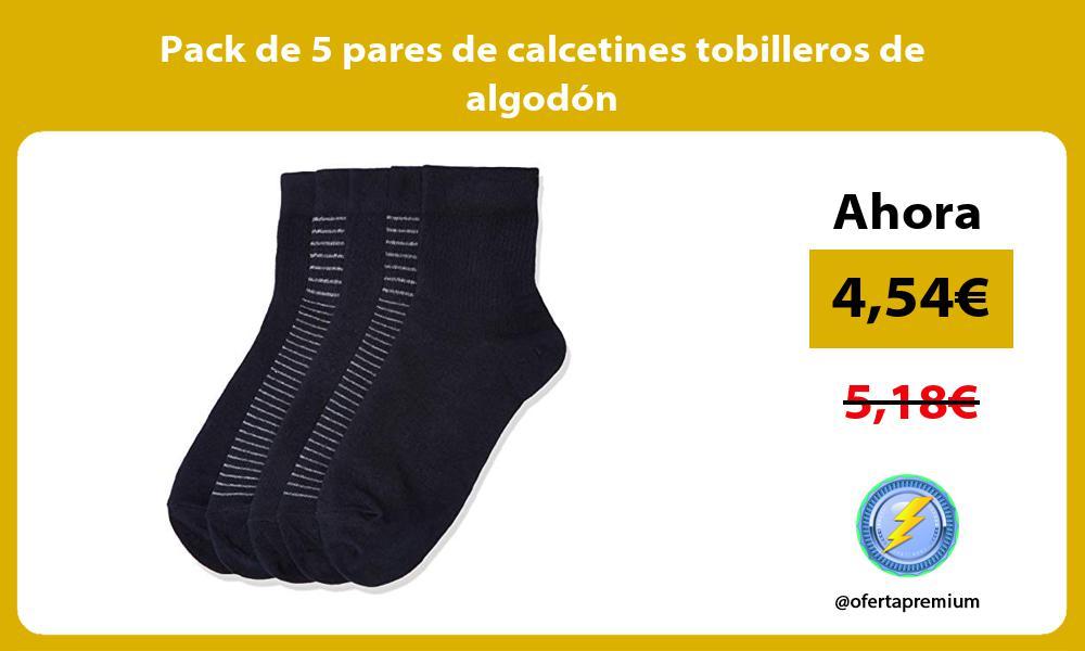 Pack de 5 pares de calcetines tobilleros de algodón