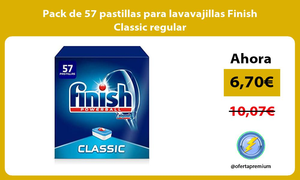 Pack de 57 pastillas para lavavajillas Finish Classic regular