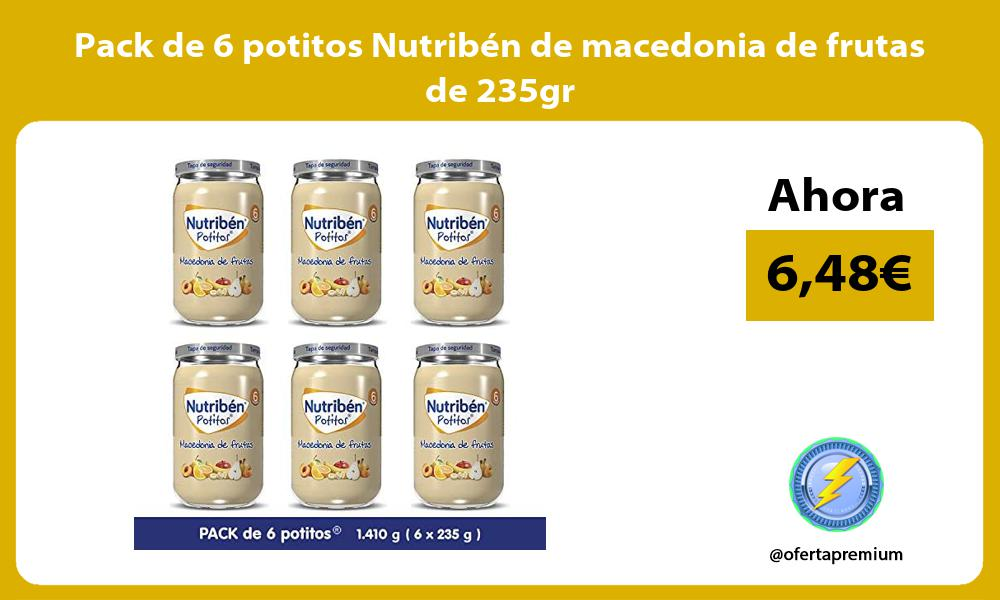 Pack de 6 potitos Nutribén de macedonia de frutas de 235gr