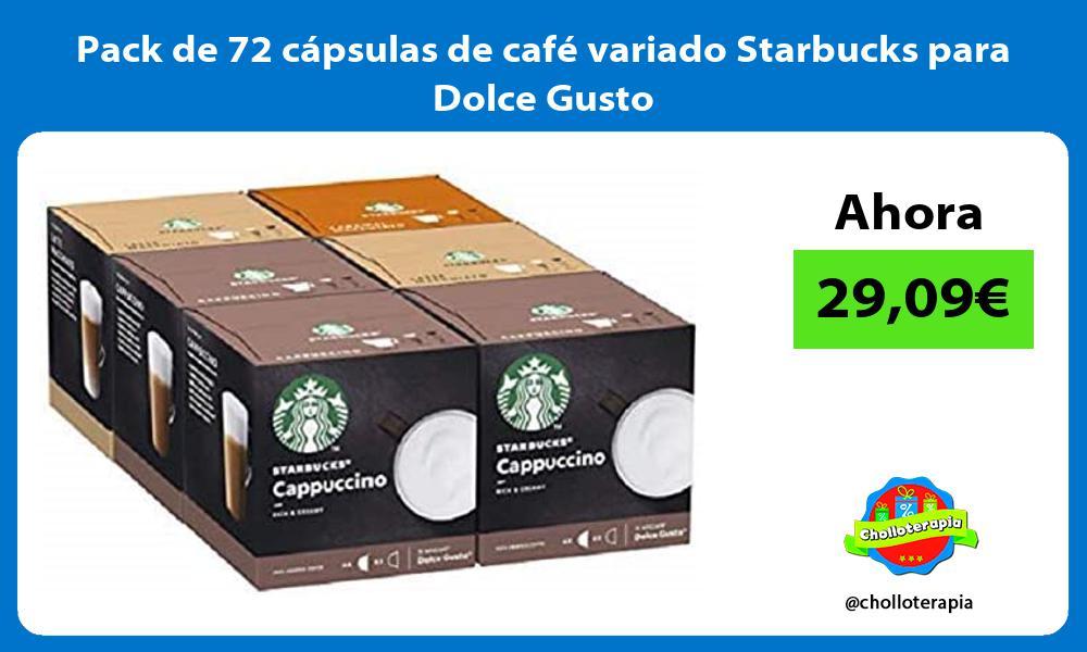 Pack de 72 cápsulas de café variado Starbucks para Dolce Gusto
