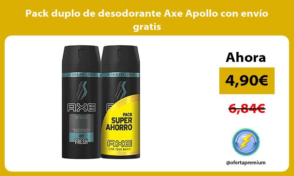 Pack duplo de desodorante Axe Apollo con envío gratis