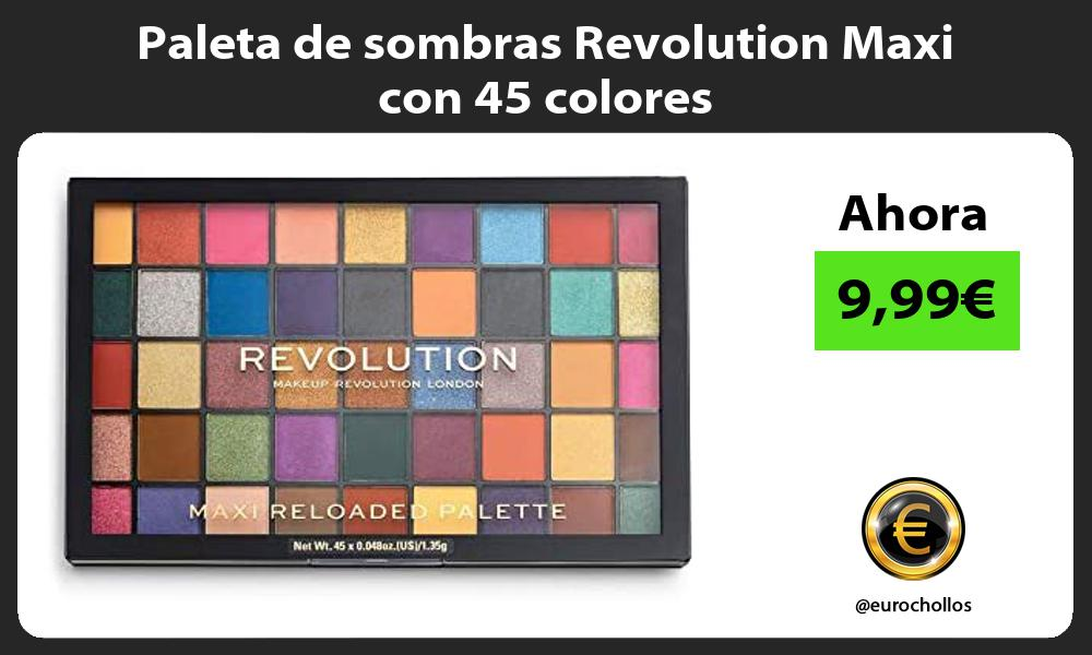 Paleta de sombras Revolution Maxi con 45 colores