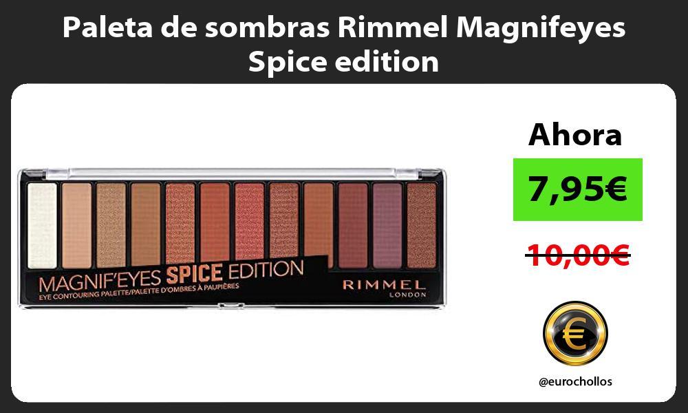 Paleta de sombras Rimmel Magnifeyes Spice edition