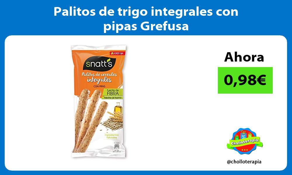 Palitos de trigo integrales con pipas Grefusa