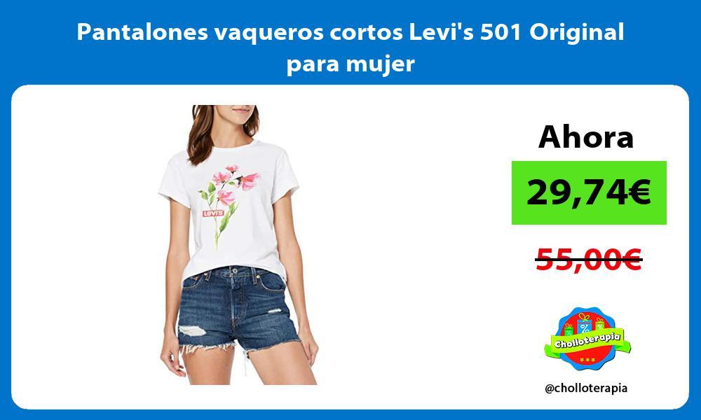 Pantalones vaqueros cortos Levis 501 Original para mujer