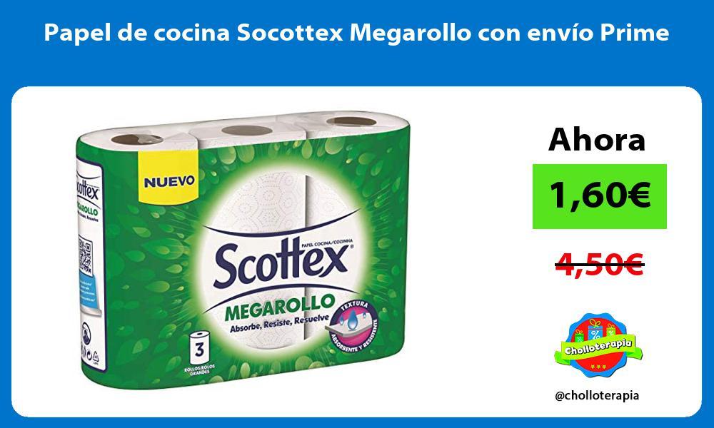 Papel de cocina Socottex Megarollo con envío Prime