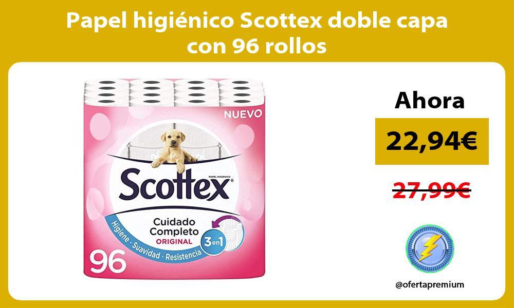 Papel higiénico Scottex doble capa con 96 rollos