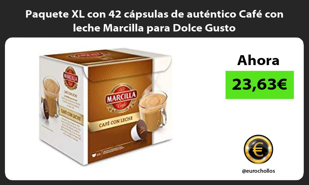 Paquete XL con 42 cápsulas de auténtico Café con leche Marcilla para Dolce Gusto