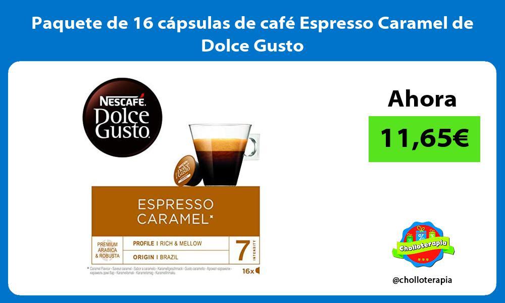 Paquete de 16 cápsulas de café Espresso Caramel de Dolce Gusto