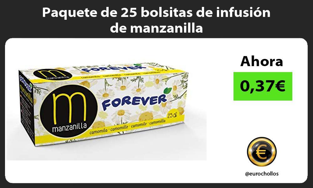 Paquete de 25 bolsitas de infusión de manzanilla